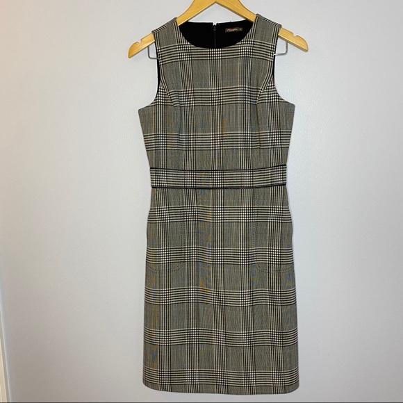 J. McLaughin Plaid Sheath Sleeveless Dress